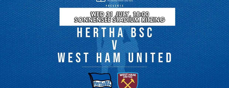Testspiel Hertha BSC - West Ham United